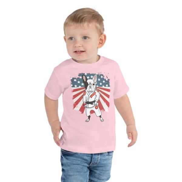 BJJ Toddler Short Sleeve Tee for kid - Brazilian Jiu-Jitsu BJJ Master French Bulldog 4