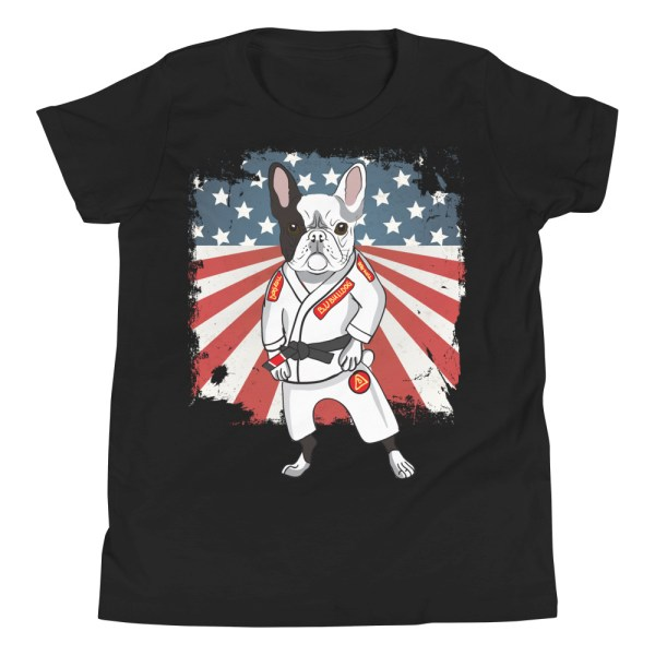 BJJ Youth T-Shirt - Brazilian Jiu-jitsu BJJ Master French Bulldog 2