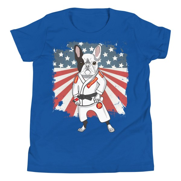BJJ Youth T-Shirt - Brazilian Jiu-jitsu BJJ Master French Bulldog 8