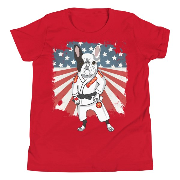 BJJ Youth T-Shirt - Brazilian Jiu-jitsu BJJ Master French Bulldog 11