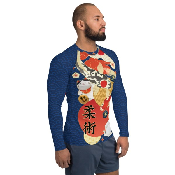 BJJ Men's Rash Guard Koi Fish Ancient Japanese Style 4