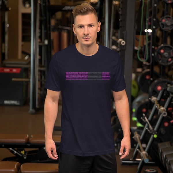 Show Your Rank By BJJ Short-Sleeve T-Shirt Brazilian Jiu-Jitsu BJJ Purple Belt – BJJ Submission 4