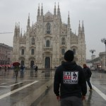 Hello from the Duomo in Milan
