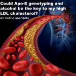 Could Apo-E genotyping and alcohol be the key to my high LDL Cholesterol?  An online anecdote