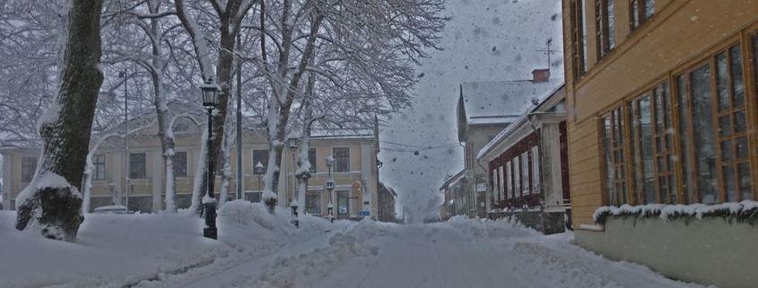 Staden Nora på vintern