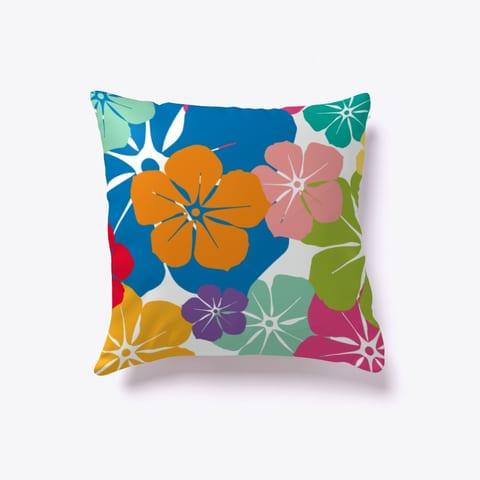 Tropical Hibiscus Throw Pillow
