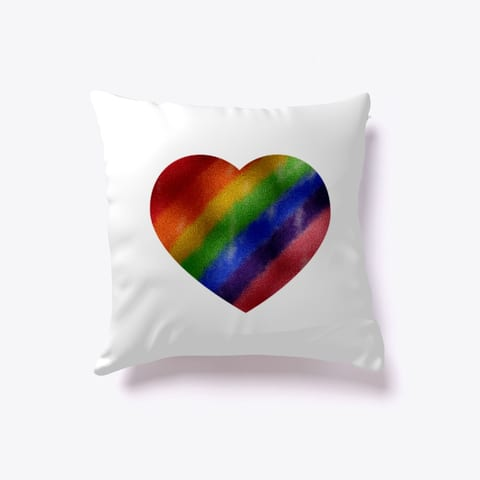 Pride Metallic Heart Pillow
