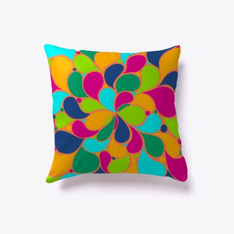 Abstract Colorful Tears throw Pillow