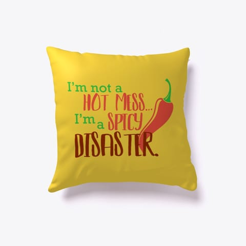 Spicy Mess Throw Pillow