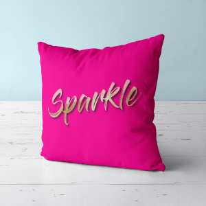 Sparkle Text Pillow