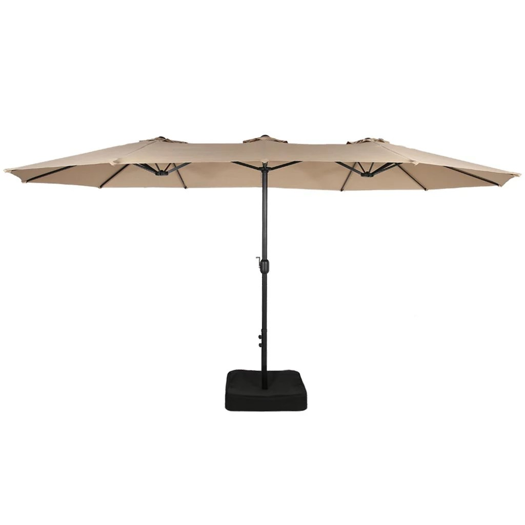 berkley jensen 15 twin umbrella with base