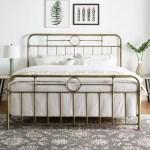 Bohemian King Size Metal Pipe Bed Frame Bronze Bjs Wholesale Club
