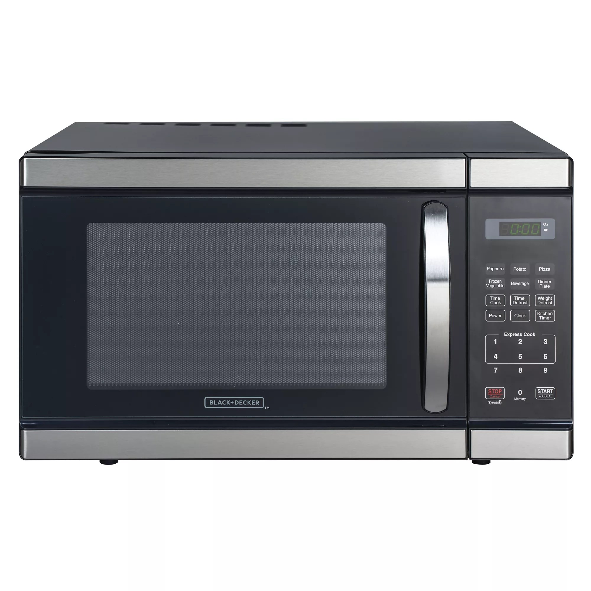 black and decker 1 1 cu ft 1000w microwave stainless steel