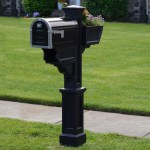 Mayne Signature Plus Mailbox Post Black Bjs Wholesale Club