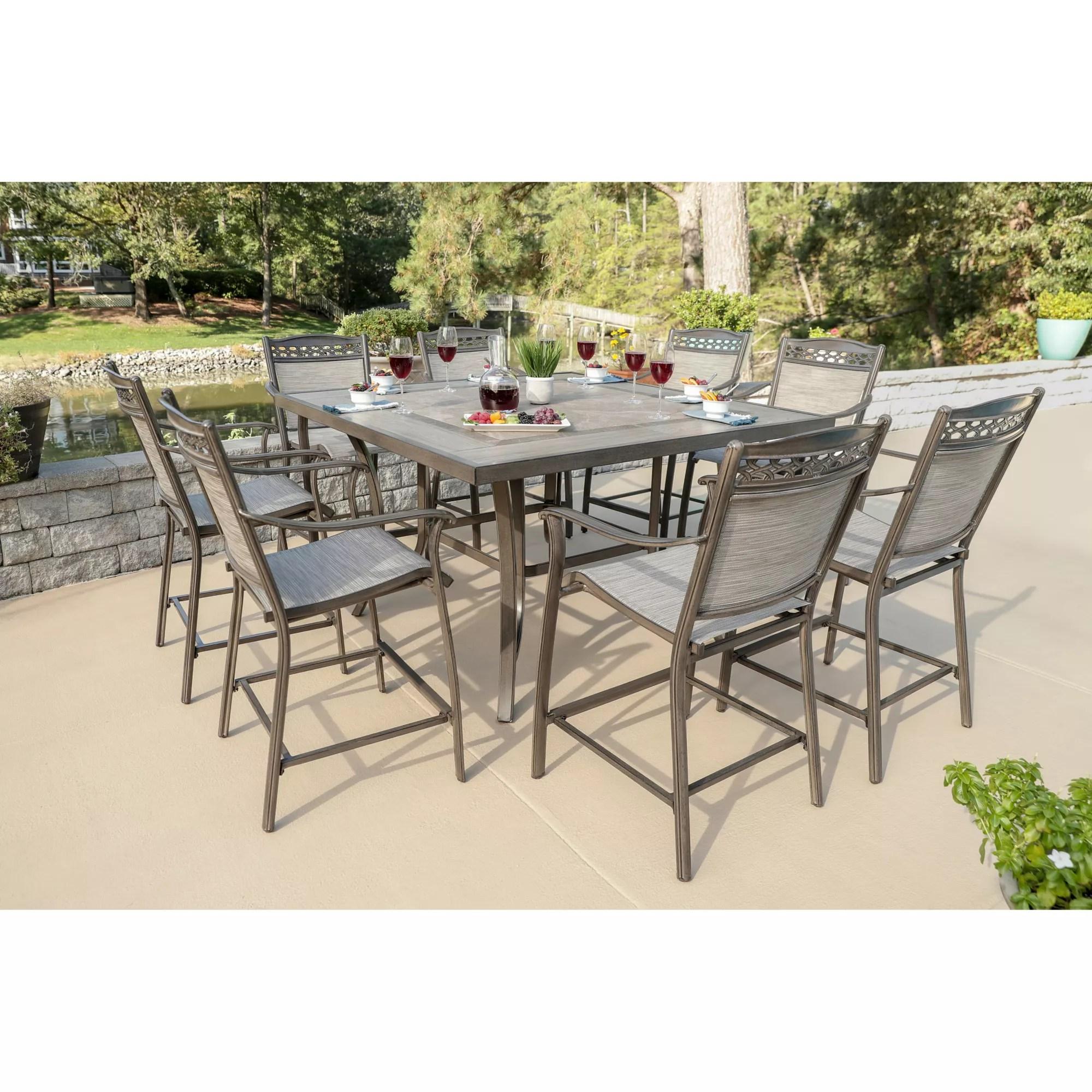 berkley jensen stone harbor 9pc aluminum high dining set