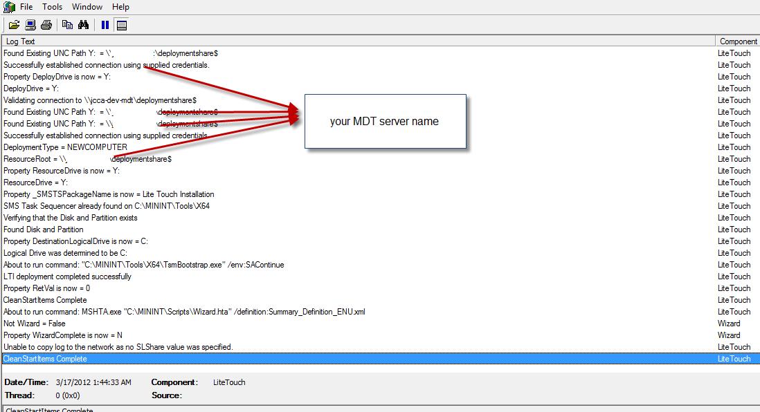 Storing log files within MDT 2010   BTNHD