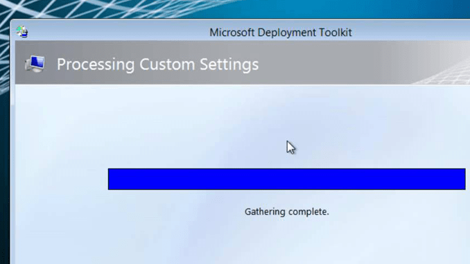 MDT 2012: Capturing a Reference Image - Part II | BTNHD