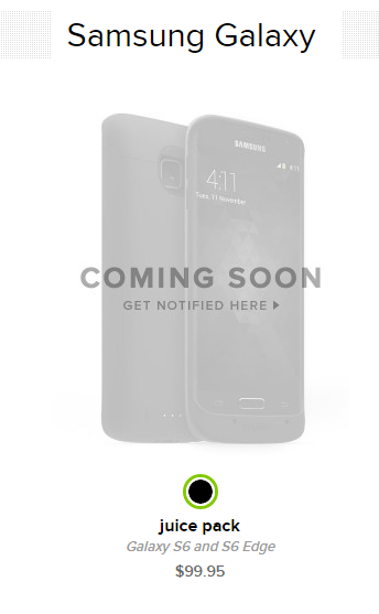 premium selection f7630 d8c2c mophie Announces Juice Pack For Samsung Galaxy S6 And S6 Edge ...