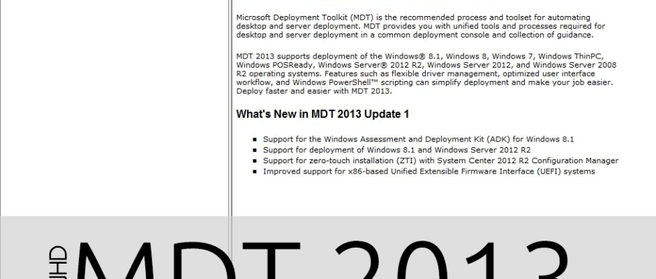 Explaining the Task Sequence within MDT 2013 Update 2 | BTNHD