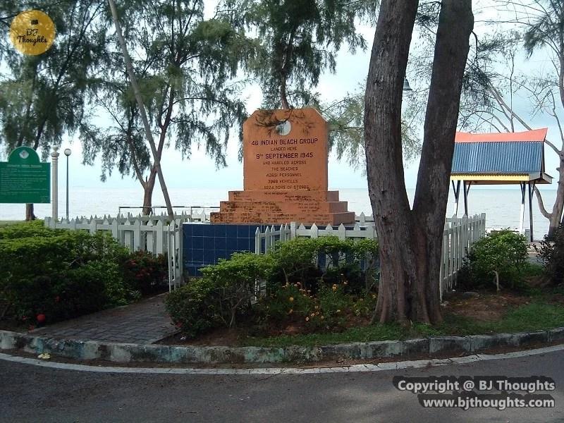 morib beach plaque history world war 2 indian army japanese