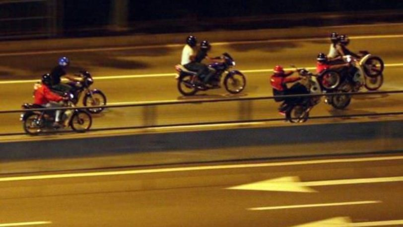 mat rempit enforcement menace motorcyclist skinning