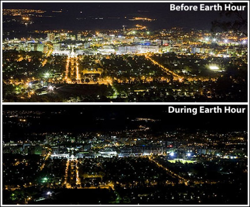 Canberra Earth Hour Environment Night