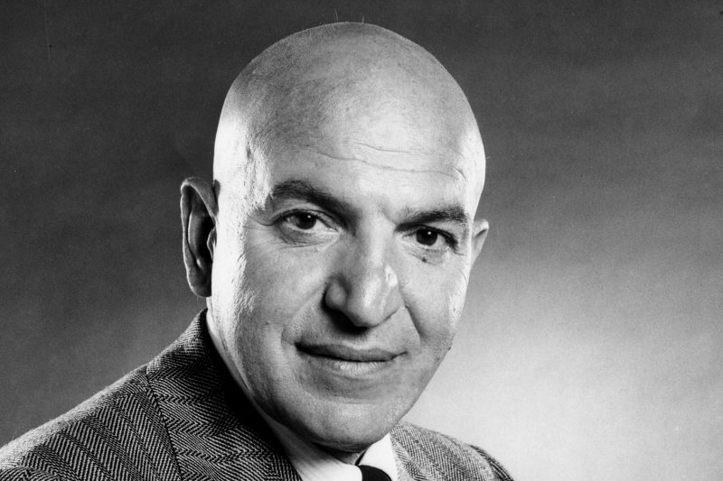 kojak bald 80s TV Telly Savalas
