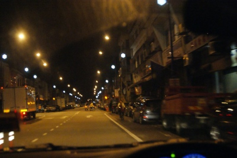 Raub town early morning drive