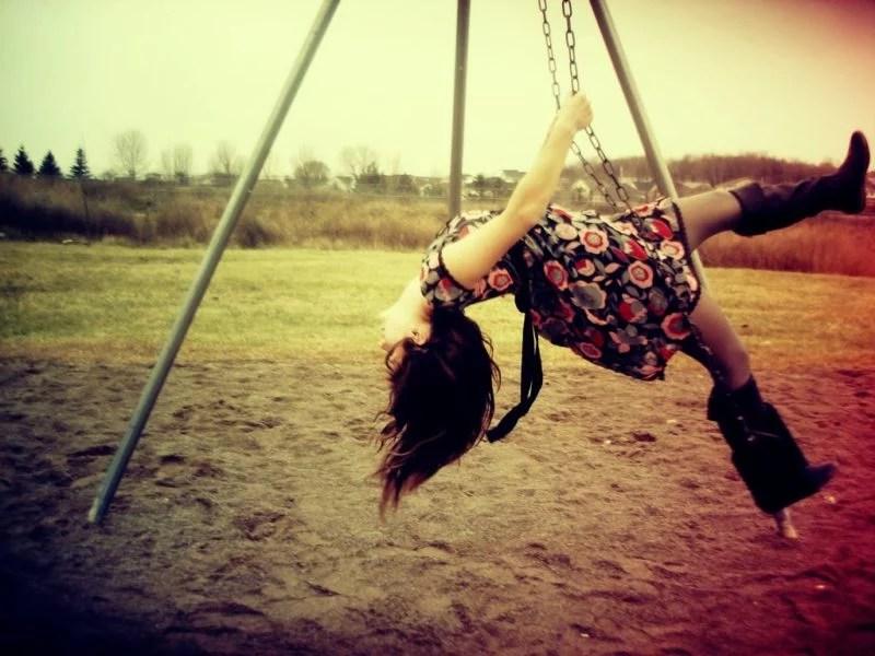 playground children parenting swing