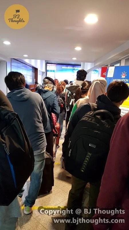 cambodia health check queue airport