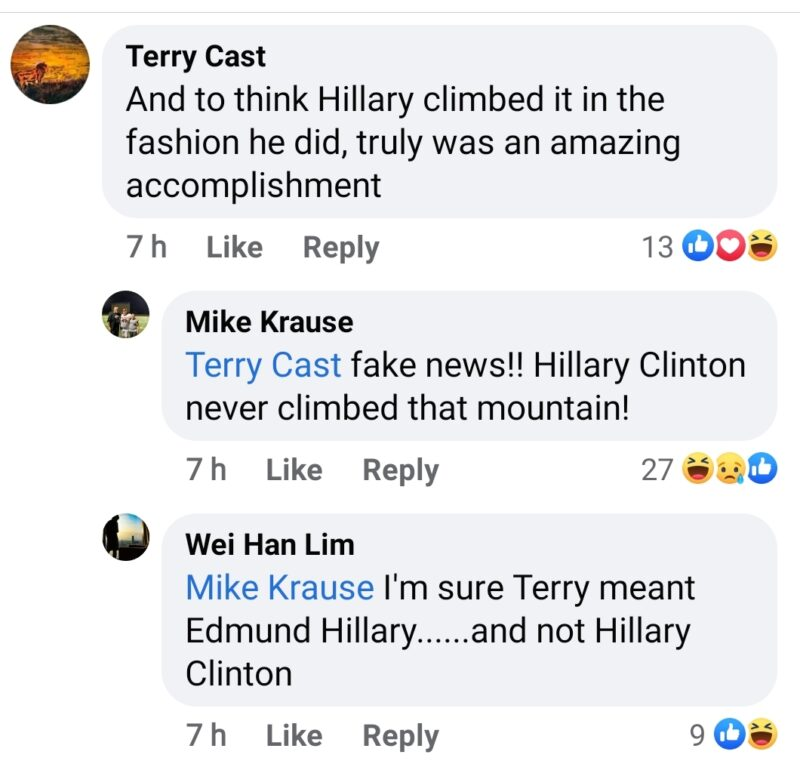 facts facebook Hillary