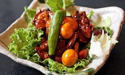 甲府グルメ&名物①蕎麦屋の定番料理!甲府鳥もつ煮(奥藤本店)