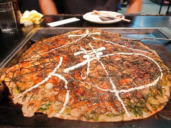 奈良県超大盛りデカ盛りグルメ⑨直径40センチ!?巨大なネギ焼き「かめや」