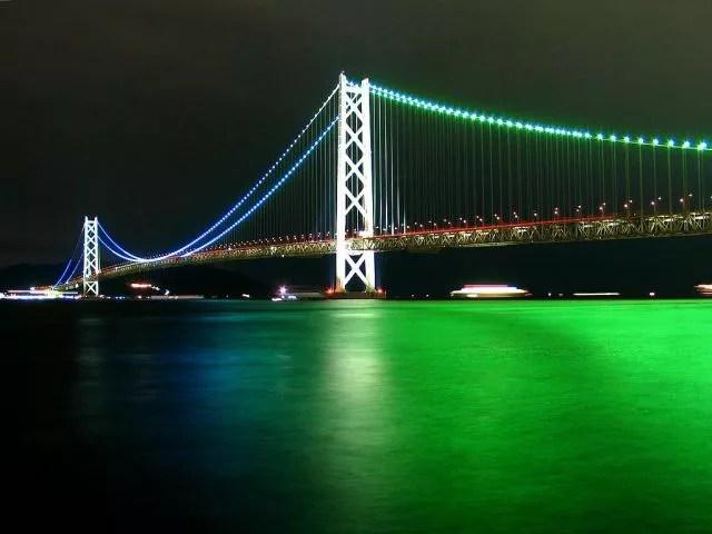 """神戸夜景スポットランキング⑦大阪港から明石海峡大橋まで""""須磨浦山上遊園"""""""