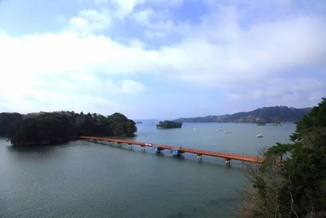 松島デートスポットランキング②カップルで渡る赤い橋!福浦島