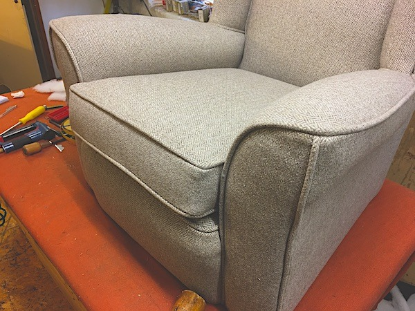 1930s Chair in houndstooth by Linwood-matching sofa