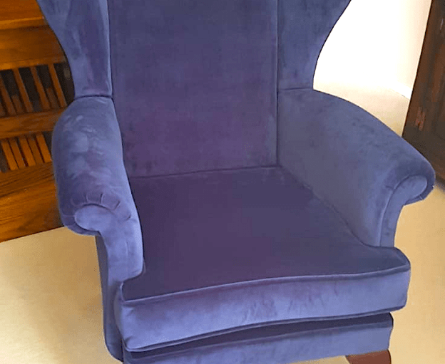 Parker Knoll Blue wing chair