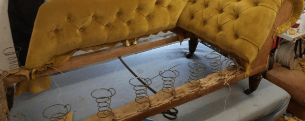 Chaise on bench - springs