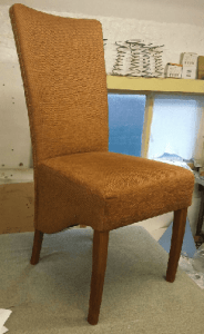 High back dining chair befor
