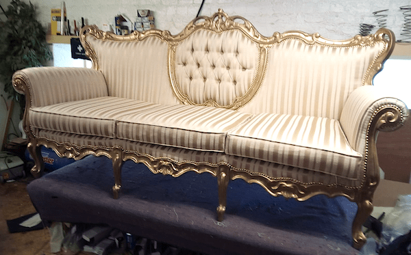 Italian gold sofa