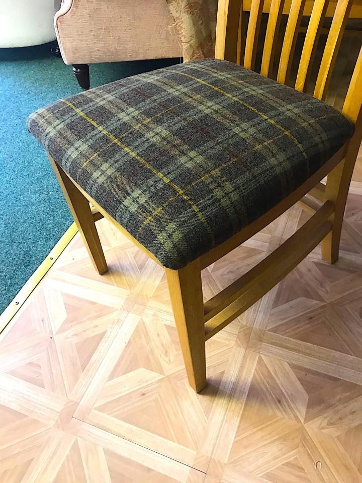 Kitchen dining chair-tartan