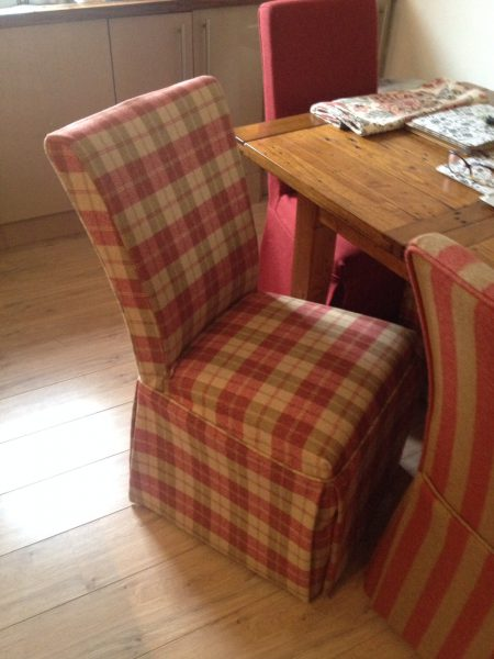 Loose cover kitchen chair