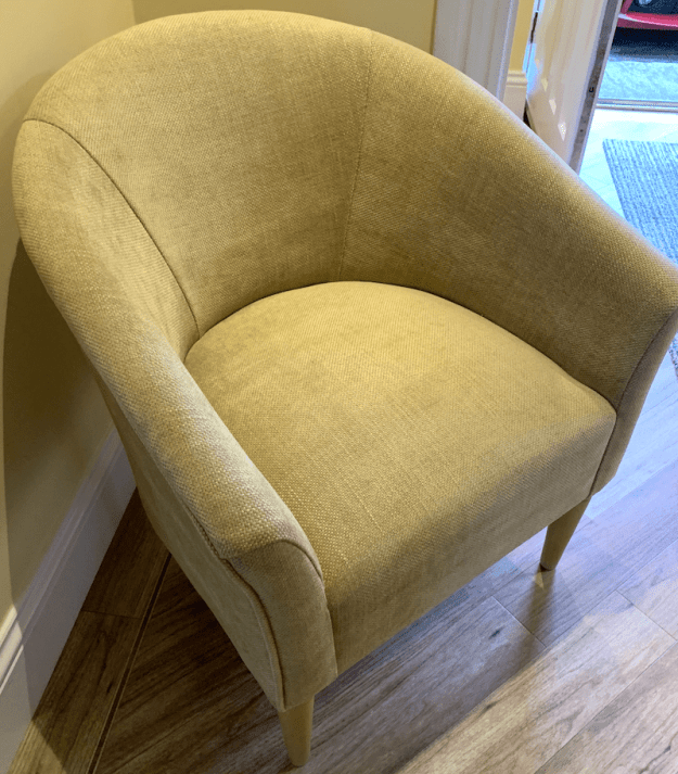Tub Chair in Golden Linwood weave