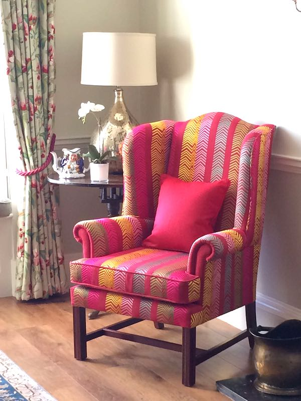 Wing chair - bright fab