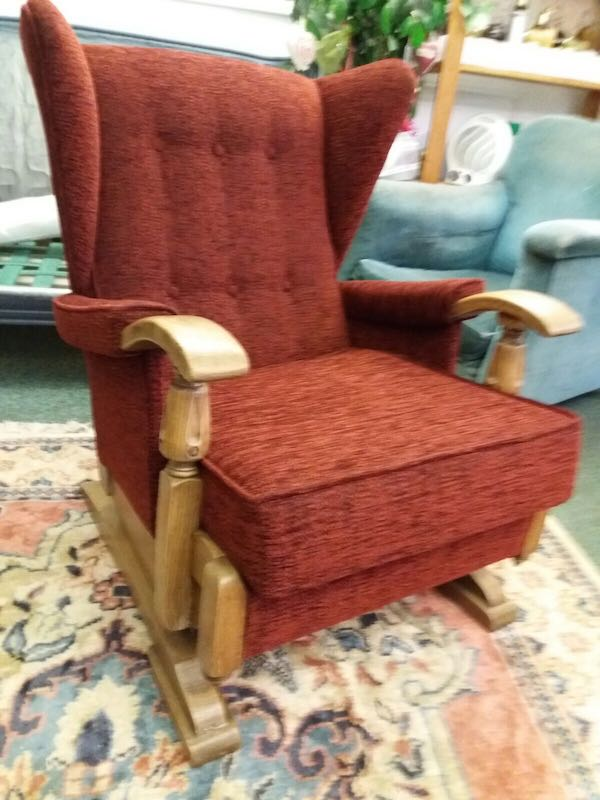 Wood framed wing chair - completed