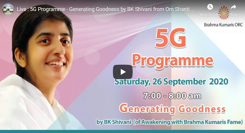 *Today's 26th Sep 20 LIVE Events Brahma Kumaris*