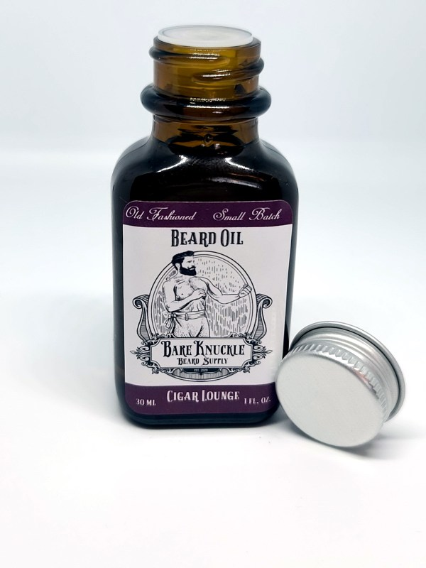 Cigar Lounge Beard Oil Open Cap