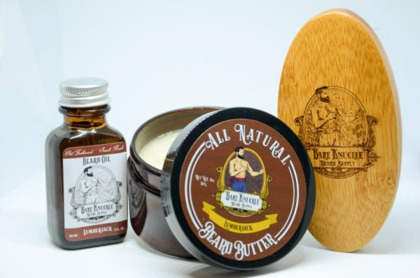 Lumberjack Beard Butter and Beard Oil with Brush