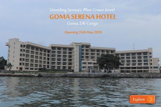 Goma: Avec  ses 109 chambres, un salon d'affaires …;  le go des activites de l'hôtel SERENA sera lancé le 15 Septembre 2020.