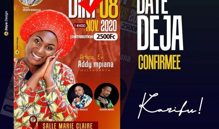 "BUKAVU : L'évangéliste Addy MPIANA annonce la sortie de son 1 er album ""Uko MKUU"" en Novembre 2020."